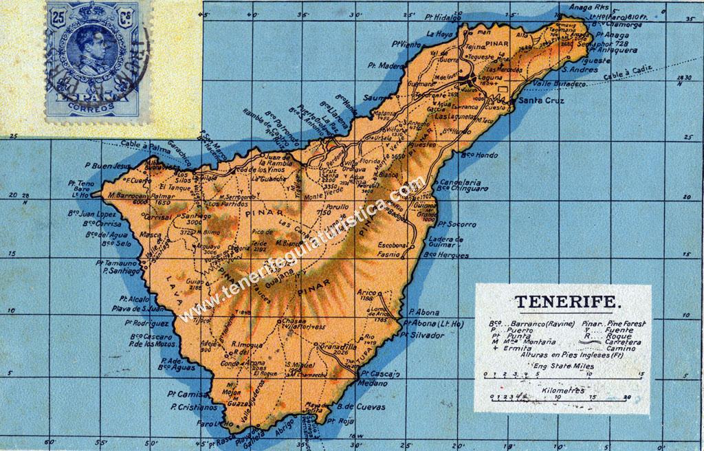 Mapa De Tenerife Sur.Mapa De Tenerife Islas Canarias